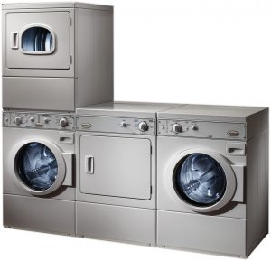 Commercial Laundry Washer Dryer Stacks